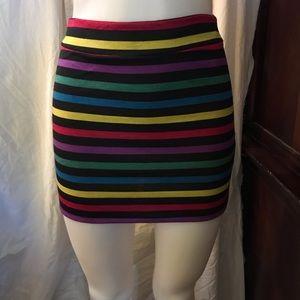 🆕 Finesse Multi Colors Mini Skirt-Large